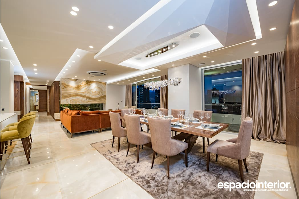 Eclectic style dining room by EspacioInterior Eclectic
