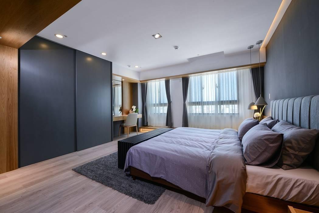 臥房A:  臥室 by 見本設計, 日式風、東方風