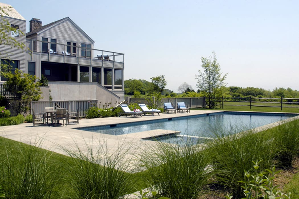 Town Lane Residence, Amagansett, NY Country style pool by BILLINKOFF ARCHITECTURE PLLC Country