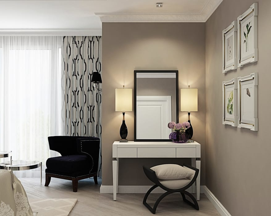 Дизайн интерьера дома в Образцово (160 кв.м): Спальни в . Автор – ДизайнМастер
