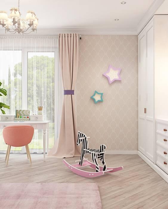 Дизайн интерьера дома в Образцово (160 кв.м): Детские комнаты в . Автор – ДизайнМастер