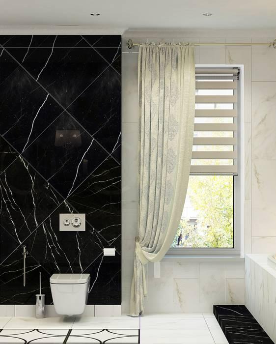 Дизайн интерьера дома в Образцово (160 кв.м): Ванные комнаты в . Автор – ДизайнМастер,