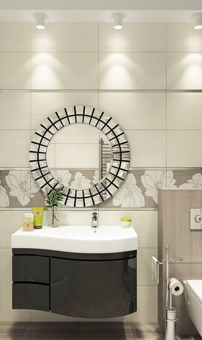 Дизайн интерьера дома в Образцово (160 кв.м): Ванные комнаты в . Автор – ДизайнМастер