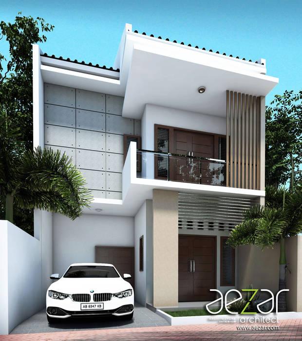 Small Minimalist House Aezar Architect Rumah tinggal Batu Bata Brown