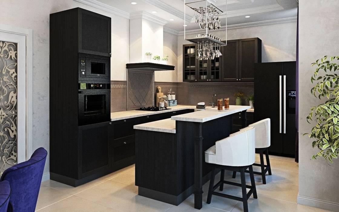 Дизайн интерьера дома в Образцово (160 кв.м): Кухни в . Автор – ДизайнМастер,
