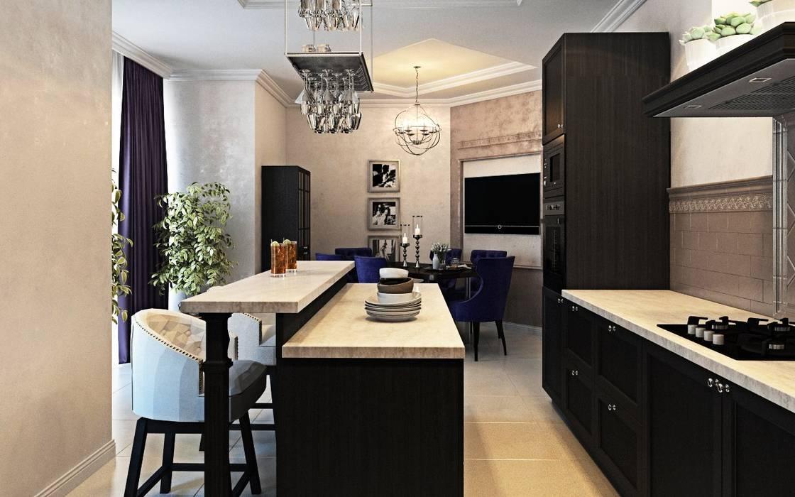 Дизайн интерьера дома в Образцово (160 кв.м): Кухни в . Автор – ДизайнМастер