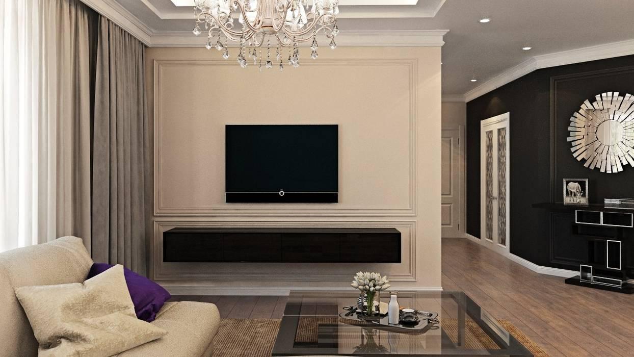 Дизайн интерьера дома в Образцово (160 кв.м): Гостиная в . Автор – ДизайнМастер