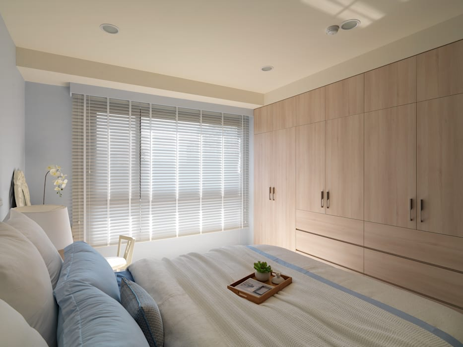 平鎮一號_方宅:  臥室 by 貝爾設計B.R studio