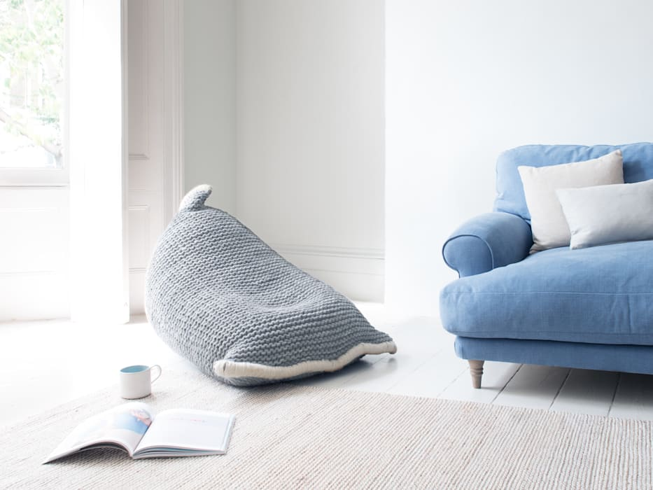 Chocs bean bag in Grey:  Living room by Loaf