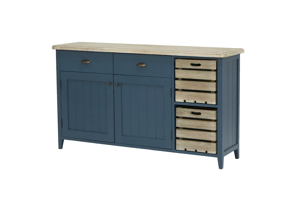 Cidre sideboard in Inky Blue:  Kitchen by Loaf