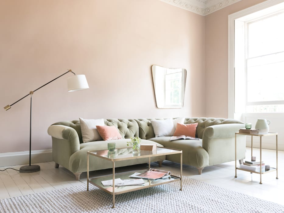 Dixie corner sofa:  Living room by Loaf