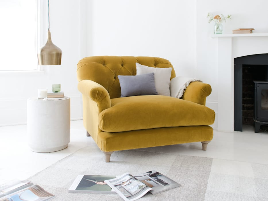 Truffle love seat: modern Living room by Loaf
