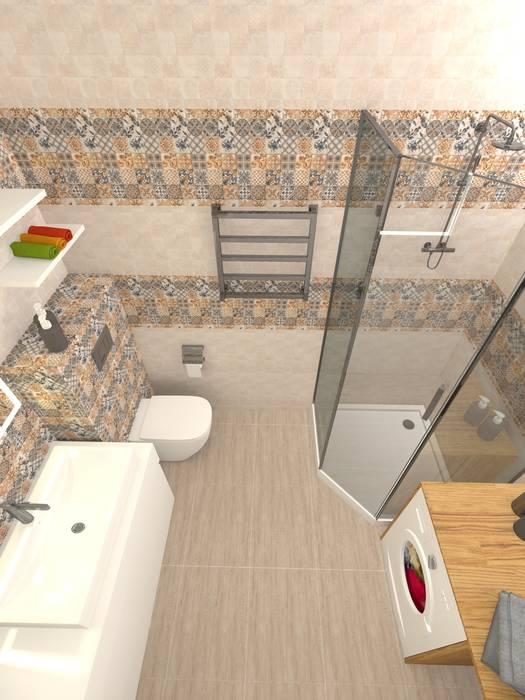 Дизайн проект однокомнатной квартиры для молодой семьи.: Ванные комнаты в . Автор – ARTWAY центр профессиональных дизайнеров и строителей