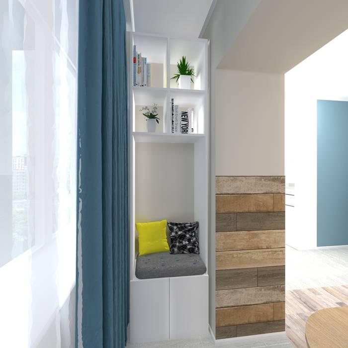 Дизайн проект однокомнатной квартиры для молодой семьи.: Рабочие кабинеты в . Автор – ARTWAY центр профессиональных дизайнеров и строителей