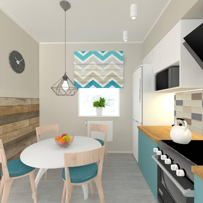 Дизайн проект однокомнатной квартиры для молодой семьи.: Кухни в . Автор – ARTWAY центр профессиональных дизайнеров и строителей