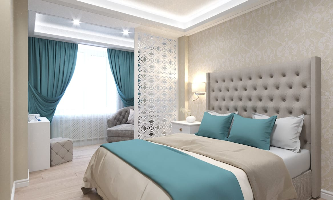 Современная классика в интерьере квартиры : Спальни в . Автор – ARTWAY центр профессиональных дизайнеров и строителей