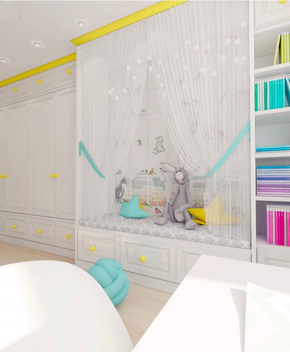 Детская комната для девочки в скандинавском стиле: Спальни для девочек в . Автор – ARTWAY центр профессиональных дизайнеров и строителей