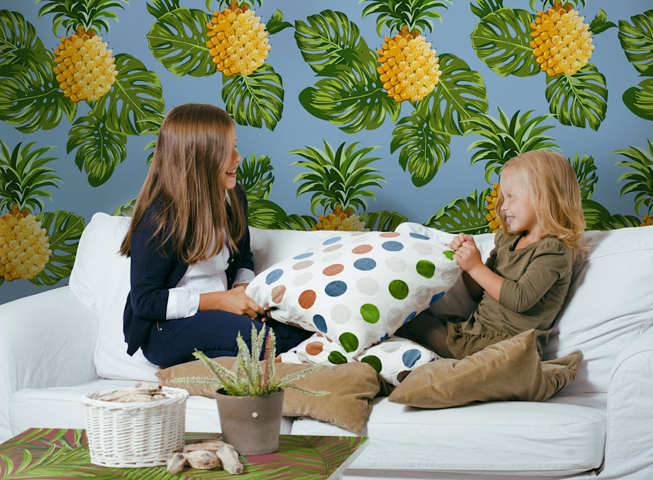 PINEAPPLE SMILES:  Living room by Pixers