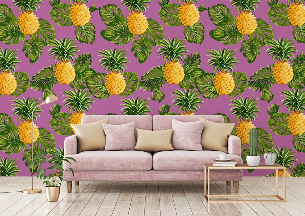 HYPNOTIC PINEAPPLES:  Living room by Pixers