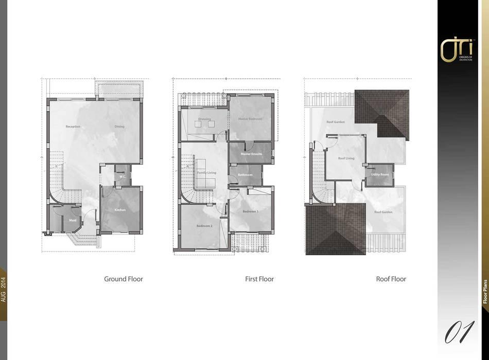 Murs de style  par Ori - Architects
