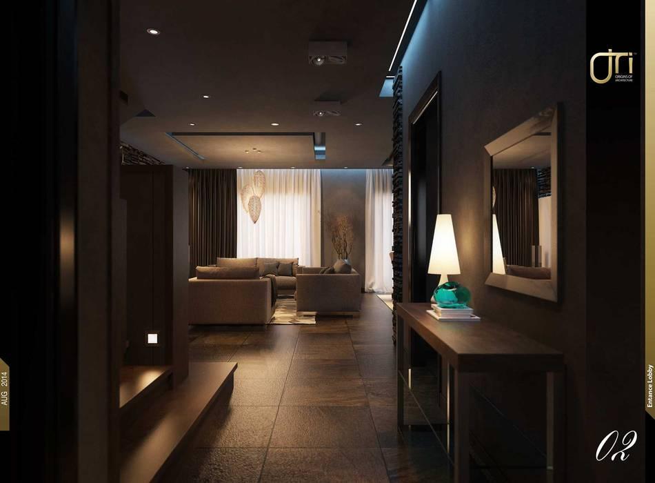 Pasillos y vestíbulos de estilo  de Ori - Architects