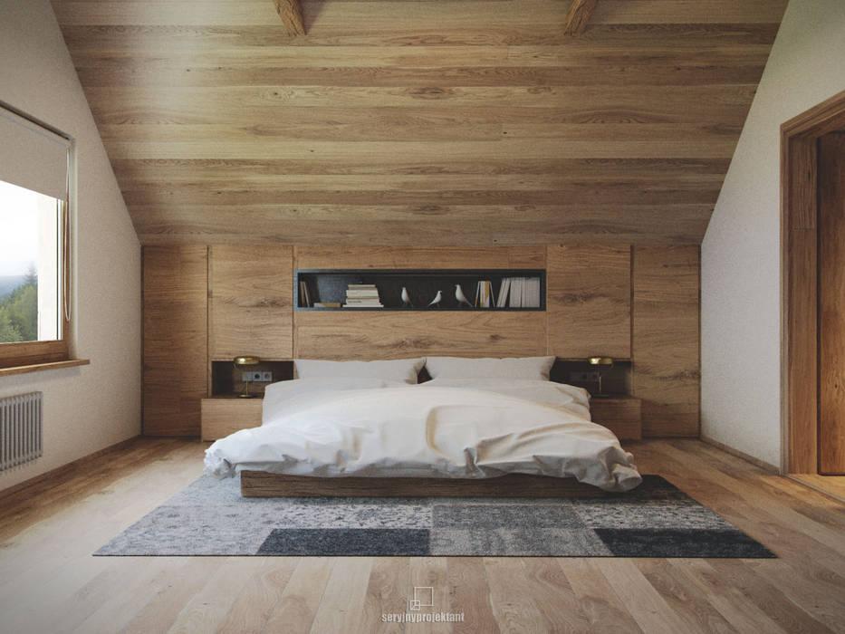 Górski Loft Styl W Kategorii Sypialnia Zaprojektowany