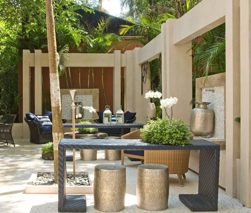 Interart Design de Interiores Modern style balcony, porch & terrace Limestone Blue