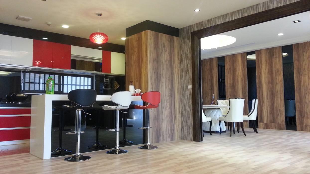 品味溫馨舒適機能性規劃:  餐廳 by 登品空間規劃工程有限公司