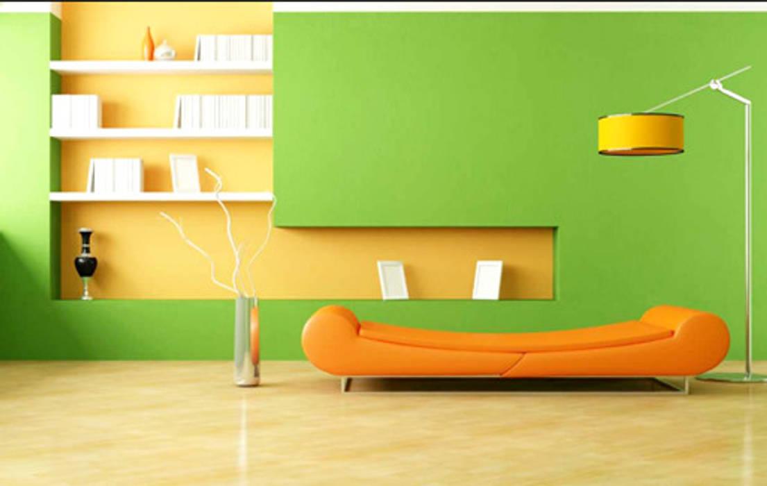 Pilihlah Warna yang Cerah Dinding & Lantai Minimalis Oleh homify.co.id Minimalis