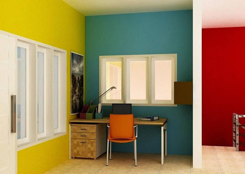 Pilih Warna yang Berbeda di Beberapa Ruangan: Dinding oleh homify.co.id,