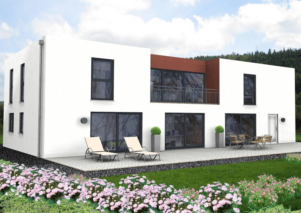 SI-Ambiente 301 Flachdachhaus mit großer, exklusiver Einliegerwohnung:  Einfamilienhaus von SI-Massivhaus