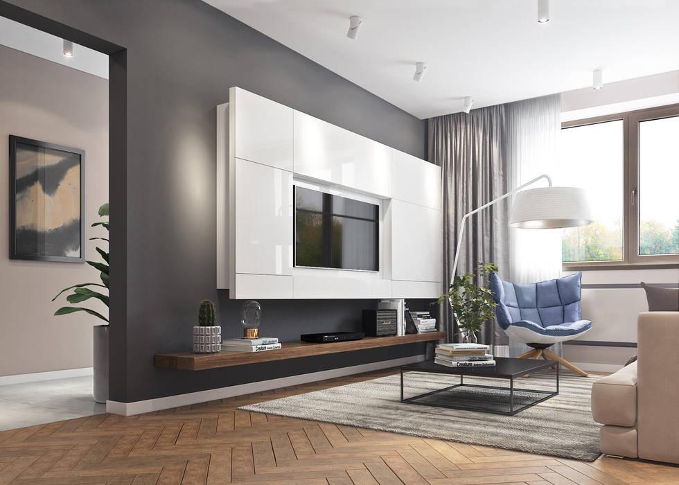Квартира в современном стиле: Гостиная в . Автор – Yurov Interiors