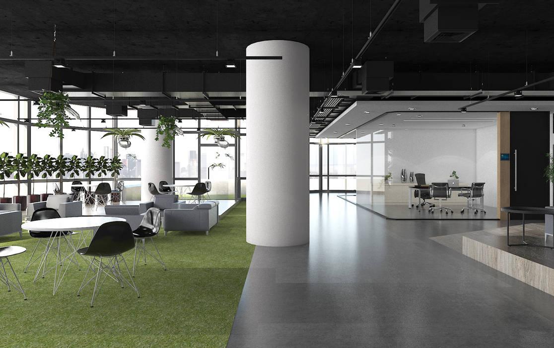 พื้นที่พักผ่อนส่วนกลาง:  อาคารสำนักงาน by DD Double Design
