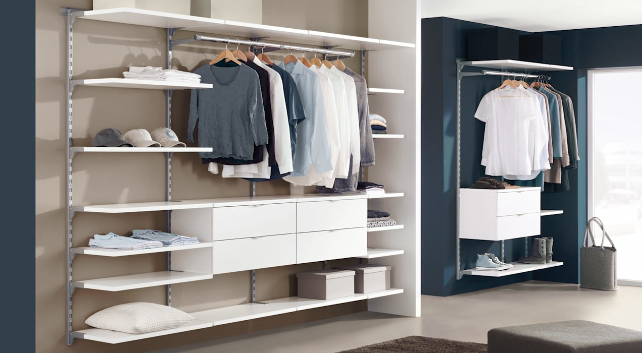 WALK-IN - Wardrobe Shelving System: classic Dressing room by Regalraum UK
