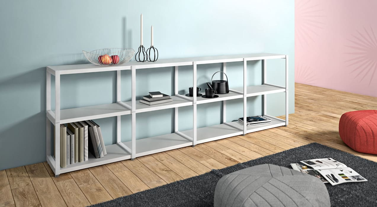 MAXX - Open Shelving Units: minimalistic Living room by Regalraum UK
