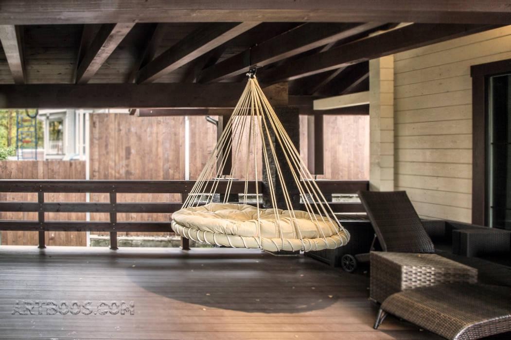 Подвисная кровать: Tерраса в . Автор – Творческая мастерская АRTBOOS