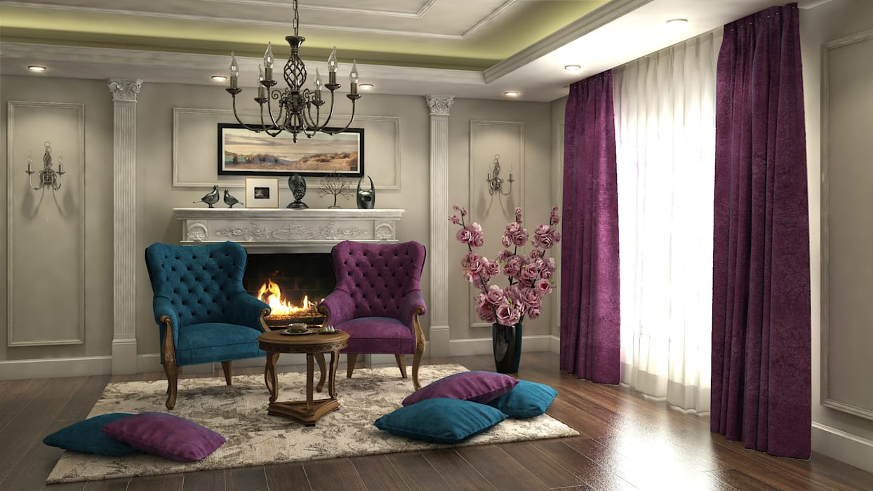Flat in El Rehab :  Dining room by Rêny , Eclectic