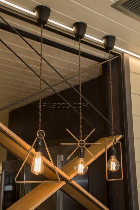 Сварные светильники: Коридор и прихожая в . Автор – Творческая мастерская АRTBOOS