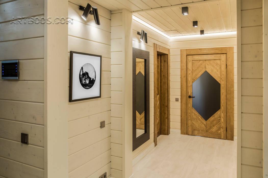 освещение в коридоре от Faro Barcelona Коридор, прихожая и лестница в скандинавском стиле от Творческая мастерская АRTBOOS Скандинавский