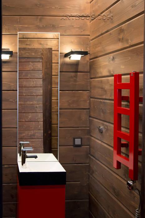 Туалет при СПА (мужская зона): Ванные комнаты в . Автор – Творческая мастерская АRTBOOS