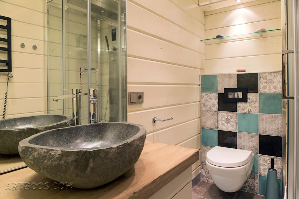 Санузел  2 этажа: Ванные комнаты в . Автор – Творческая мастерская АRTBOOS