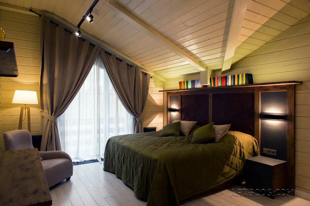 Спальня хозяев: Спальни в . Автор – Творческая мастерская АRTBOOS