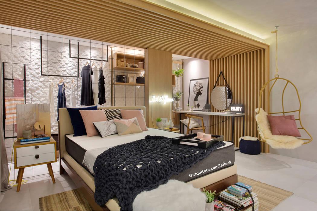 Skandinavische Schlafzimmer von ARQUITETURA - Camila Fleck Skandinavisch