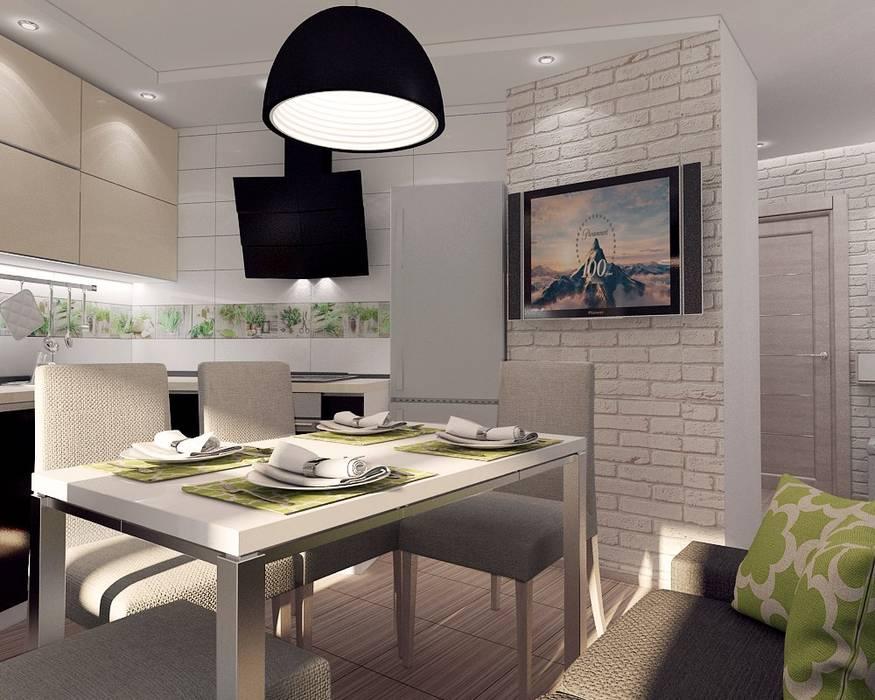 """Проект квартиры для молодой семьи """"Функциональность и легкость"""": Кухни в . Автор – ARTWAY центр профессиональных дизайнеров и строителей,"""