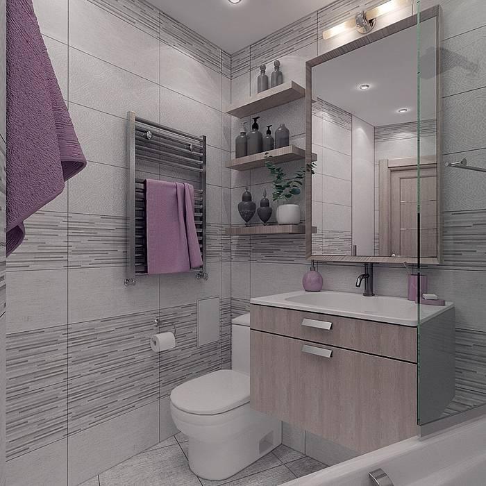 """Проект квартиры для молодой семьи """"Функциональность и легкость"""": Ванные комнаты в . Автор – ARTWAY центр профессиональных дизайнеров и строителей"""