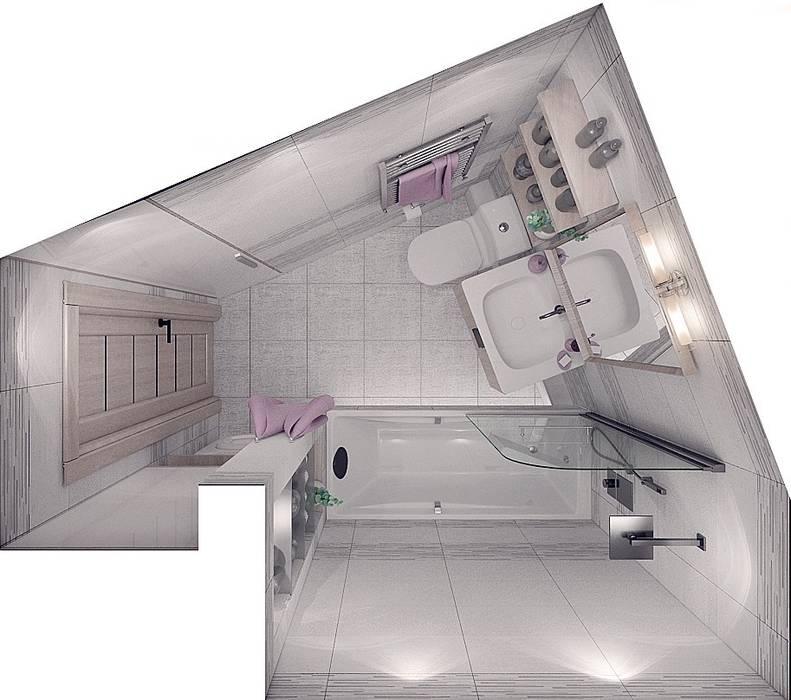 """Проект квартиры для молодой семьи """"Функциональность и легкость"""": Ванные комнаты в . Автор – ARTWAY центр профессиональных дизайнеров и строителей,"""