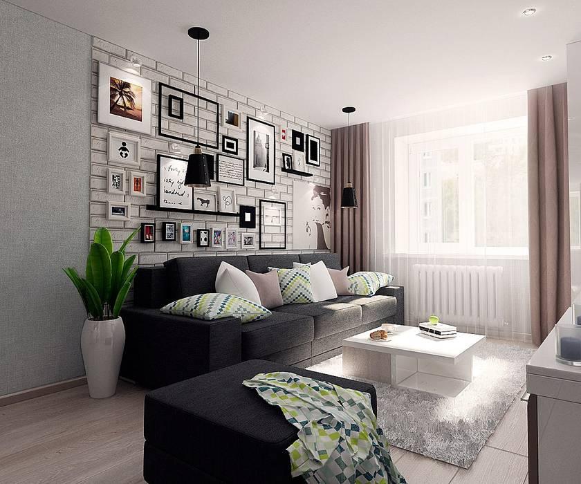 """Проект квартиры для молодой семьи """"Функциональность и легкость"""": Гостиная в . Автор – ARTWAY центр профессиональных дизайнеров и строителей"""