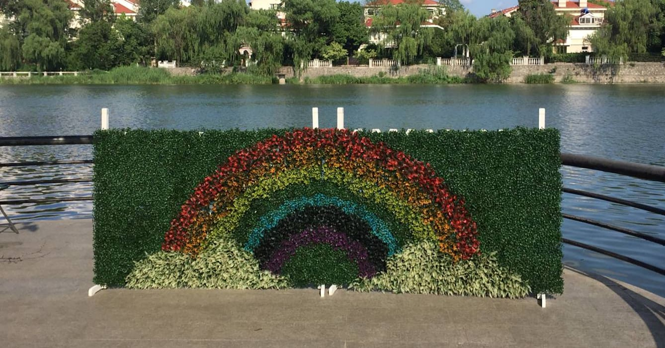"""rainbow"" design by SUNWING artificial plants:  Event venues by Sunwing Industrial Co., Ltd."