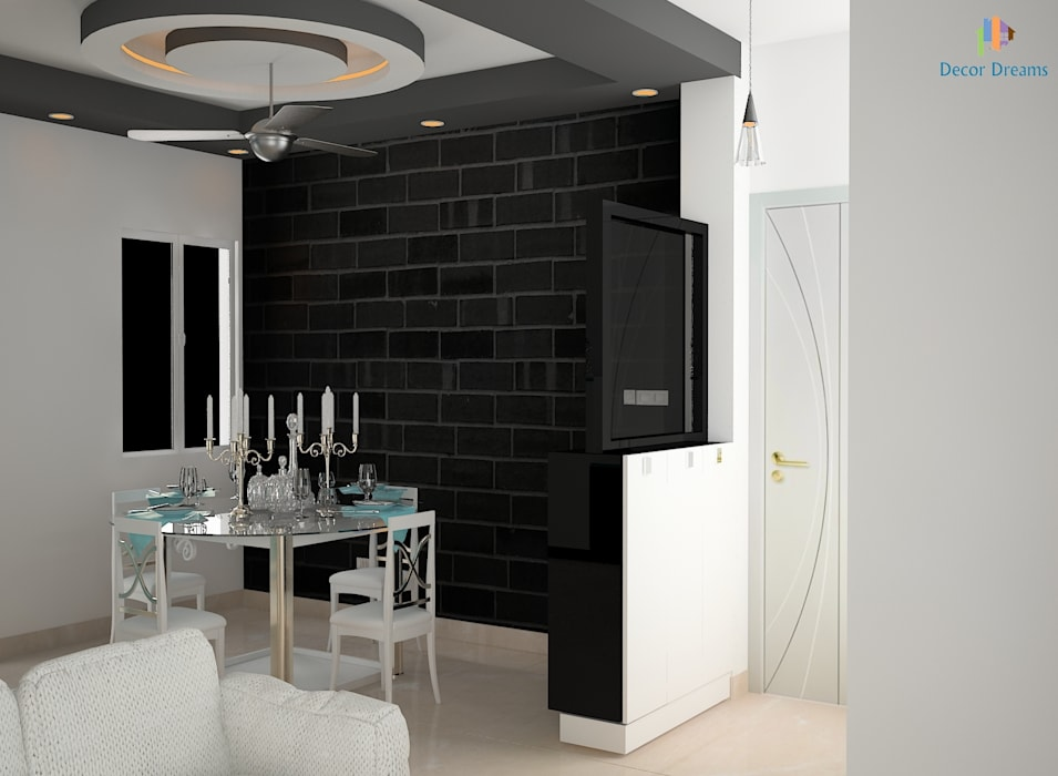 DLF Woodland Heights, 3 BHK - Mrs. Darakshan:  Dining room by DECOR DREAMS,