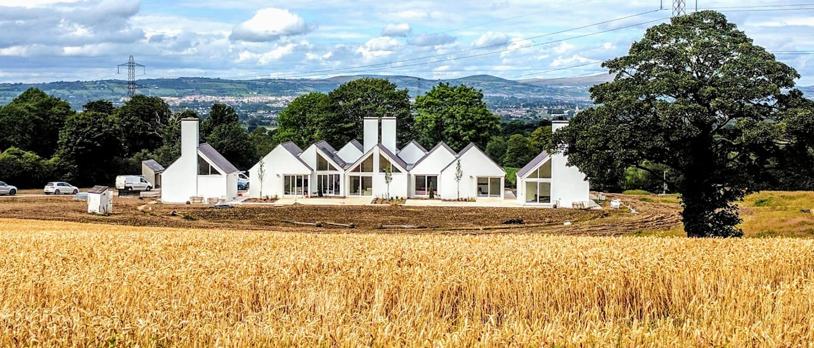 contemporary country house, set in the corn fields of Northern Ireland by award winning architect Jane Burnside: modern Houses by Jane D Burnside Architects
